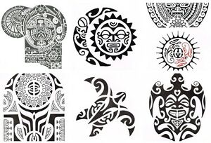 Avastore Temporare Maori Tattoos Sonne Schildkrote