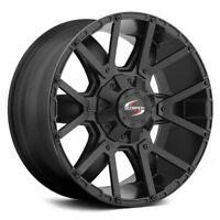 Scorpion Sc9 17x9 Matte Black Wheels Rims Ford Jeep Dodge Chevy Gmc