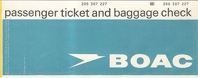 Airline Ticket - BOAC - 2 Flight - 1970 (T190)