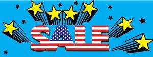 3ft x 8ft SALE (strblu) Vinyl Banner -Alt to Banner Flag 3'x8' (0066)