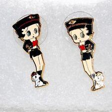 Boucle d'oreille Betty Boop Bijou plaqué Or 18KGF Adolescent Femme AJ 4
