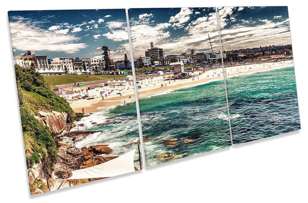 Bondi Beach Sydney incorniciato tela stampa Treble Wall Art