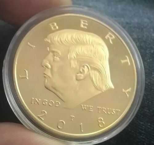 Funny Ha 2018 President Donald Trump 24k Gold Plated EAGLE Coin great gag gift