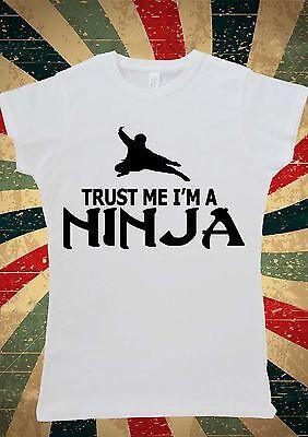 Trust Me I'm a Ninja Funny Tumblr Women T-Shirt Vest Tank Top W1036