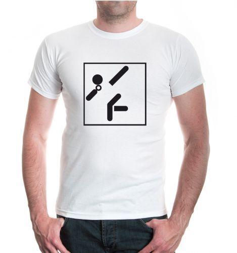 Herren Unisex T-Shirt Kugelstoßen-Piktogramm Kugelstoßer Leichtathletik Fanshirt