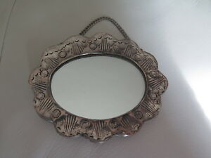 Antique Ottoman Islamic Turkish 900 Silver Repousse Frame Mirror Ebay