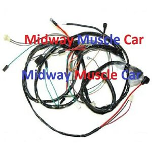 Details about front end headlight lamp wiring harness 69 Chevy Camaro on