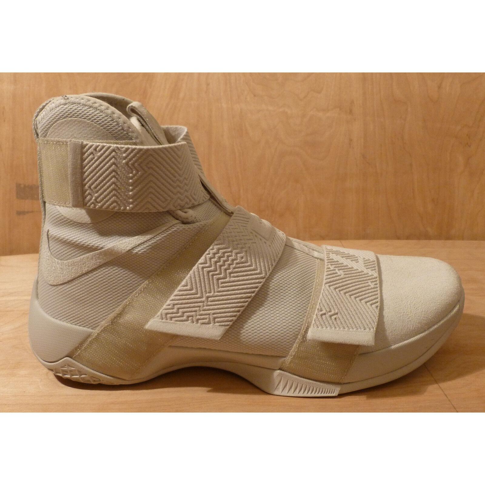 Nike lebron soldat 10 911306 001 aus weißem licht licht weißem knochen basketball - schuhe der größe 14. 9fb787