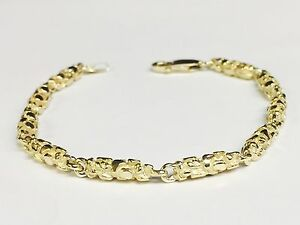 3db89bc1414a1 10k Solid Yellow Gold Nugget Chain/Bracelet 4.5 MM 15 grams 8