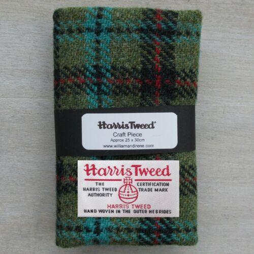 Harris Tweed Lana Coser piezas Artesanales De Tela 30cm X 25cm incluso Etiqueta