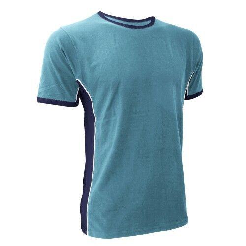 New Finden /& Hales Mens Panel Sports Gym Training T-Shirt 3 Colours M,L,XL
