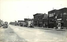 c1930s RPPC Postcard; Main Street Scene, St. Ansgar IA 3761 LL Cook Mitchell Co.