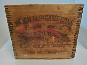 RARE VTG Enoch Morgan's Sons Sapolio Soap & Chemicals Wooden Crate Box Shipping