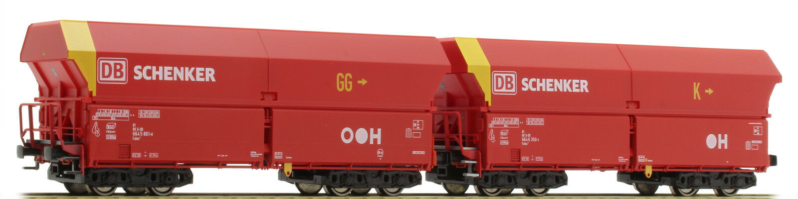 per poco costoso Mehano 58869 2er Set Di Costruzione Falns 121 erzwagen DB DB DB Schenker testzug NUOVO UVP 65,99  in vendita