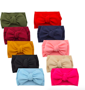 10-Pieces-Hair-Bow-Baby-Headbands-Knot-Elastic-Head-Wraps-Newborn-Infant-Toddle