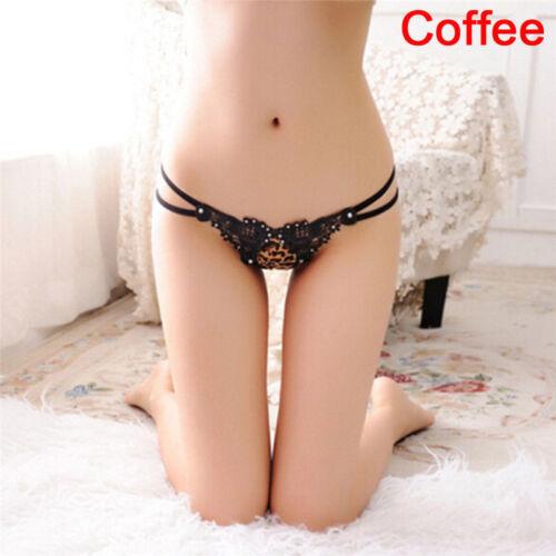 Women Naughty Open Butt Jeweled Panties Kinky Backless Lingerie Brief Underwear