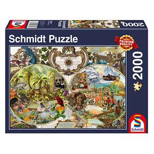 Schmidt-Spiele-Exotische-Weltkarte-2000-Teile-Erwachsenenpuzzle-Steckpuzzle