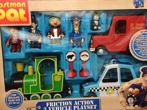 Postman Pat Vehicle Friction Action  Rocket Police Car Van Figures Playset Set