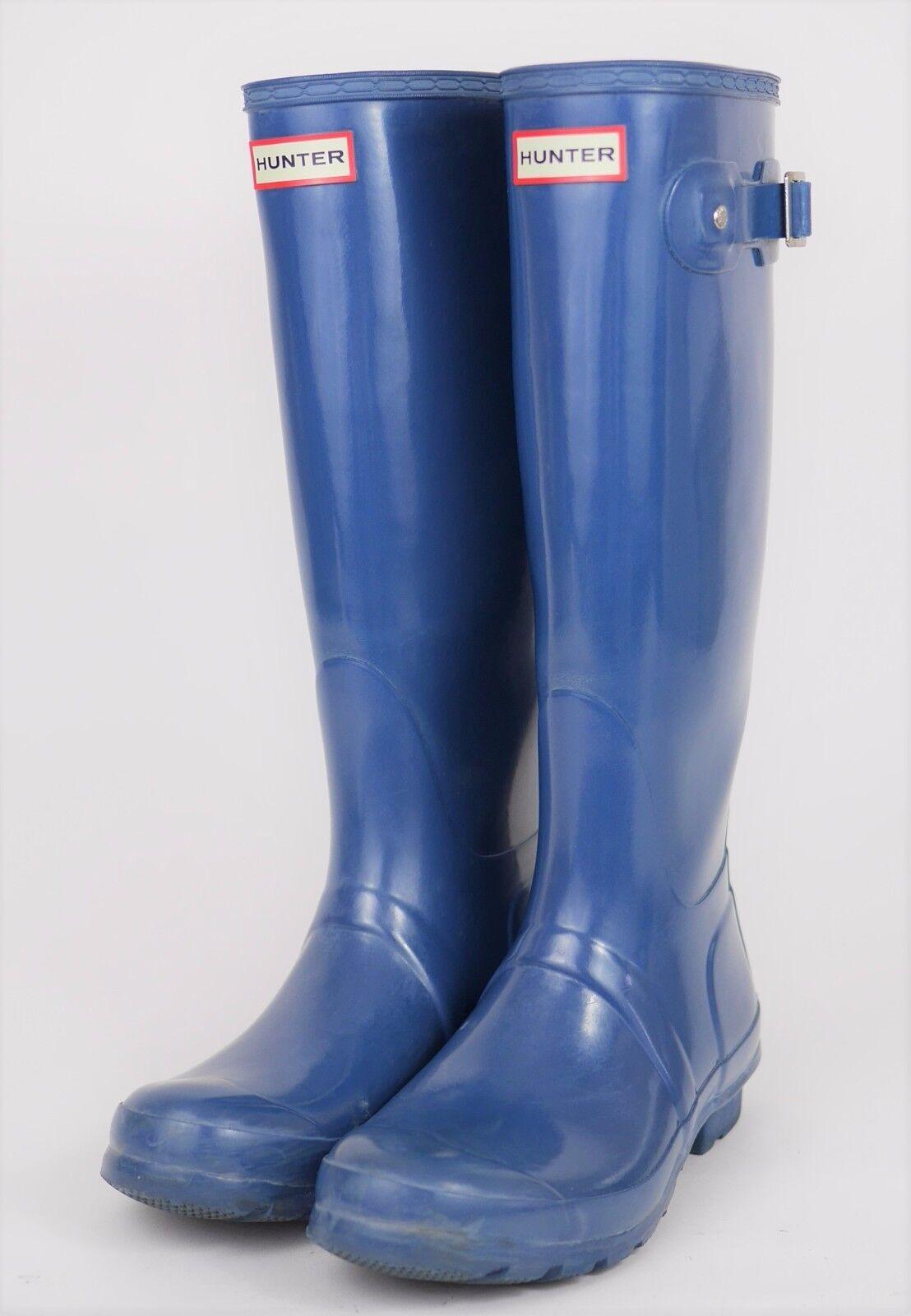 HUNTER Wellington Original Tall Rain Boots - TEAL blueE - Knee High - WOMEN'S 7