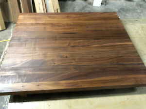 John Boos Black Walnut 30 X 25 X 1 5 Wood Edge Grain Counter Cutting Board Ebay