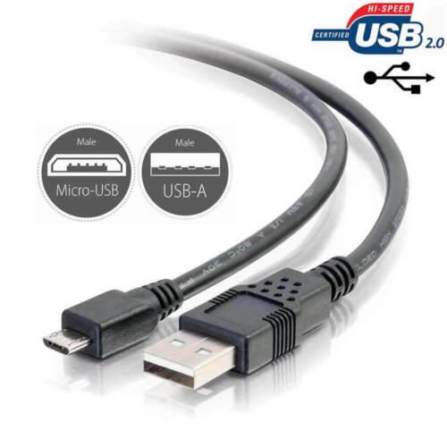 Cargador USB Carga Cable Cable de plomo FR Sennheiser HD 4.40 BT Auriculares inalámbricos