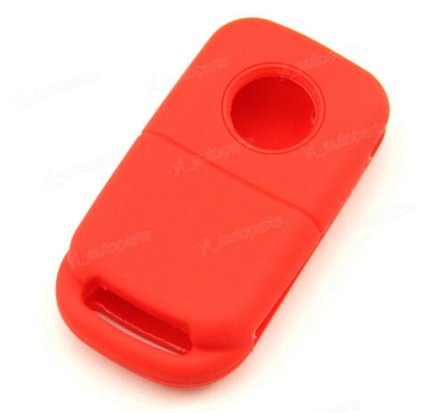 Red Silicone Case Cover For Mercedes Benz A C S M ML E Flip Remote Key 2 Buttons