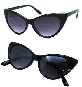 Womens Black Cat Eye Sunglasses Retro Fashion Classic Glasses Vintage Shades