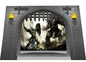 Huge 3D Medieval Castle Gate Dungeon  Dragons View Wall Sticker Mural G sm 1