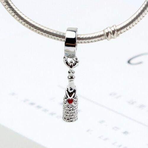 European Silver Charms Perles pendentif Fit 925 Sterling Bracelet À faire soi-même Chaîne