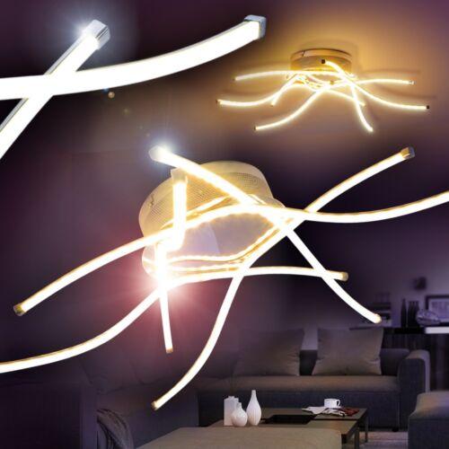 Design LED Deckenstrahler Leuchte Deckenleuchte Lampe Deckenlampe Chrom Lampen