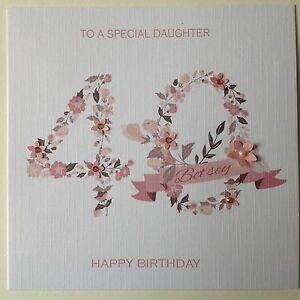 Image Is Loading PERSONALISED Handmade BIRTHDAY CARD Mum Sister Friend 30th