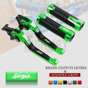 CNC-Brake-Clutch-Levers-Handle-Grip-for-KAWASAKI-NINJA-250-300-125-Z125-Z250SL