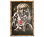 Details about  /Native American Man 36 x 24 Inch Rustic Wooden Frame Painting New