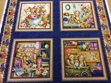 Fabri-Quilt - Buddy Bears Panel - 100% Cotton Fabric - Cushion Panel
