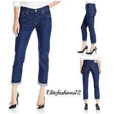 Levi's Womans 501 Boyfriend Jeans, Rinse Rapids, Size 28 x 32 Style # 125010240