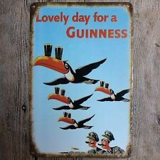 Metal Tin Sign lovely day for a guinness Decor Bar Pub Vintage Retro Poster