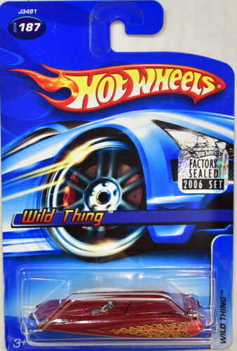 HOT WHEELS 2006 WILD THING #187 RED FACTORY SEALED