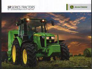 """100% De Qualité John Deere"""" 5r Series"""" 90 - 125hp Utilitaire Tracteur Brochure Dépliant-afficher Le Titre D'origine"""