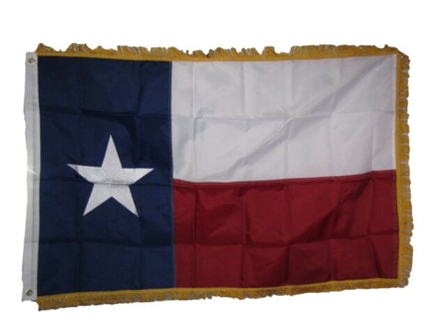 3x5 3/'x5/' Texas State Embroidered Super Polyester//Nylon Flag Sleeved.