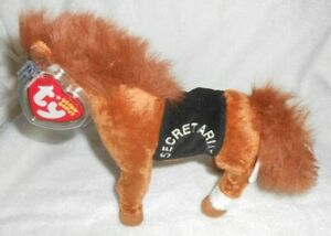 Ty Beanie Baby Secretariat Race Horse Plush with Tags