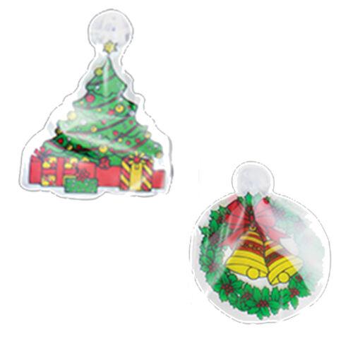 Pack De 6 Noël Fenêtre plaques verre Décorations Suspendu Porte Signe Santa
