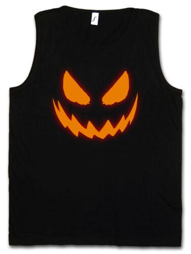 GLOWING HALLOWEEN PUMPKIN I TANK TOP VEST GYM Horror Trick or Treat Samhain USA