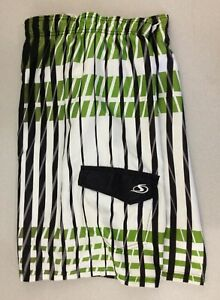 Sportek Men S Green Black Striped Size Xl Mesh Lined Swim Shorts Trunks Ebay Men comfy running workout sports fitness training shorts sweatshorts pantstop rated seller. ebay