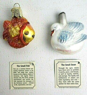 Merck Old World Christmas Ornaments Small Fish, Small Swan ...