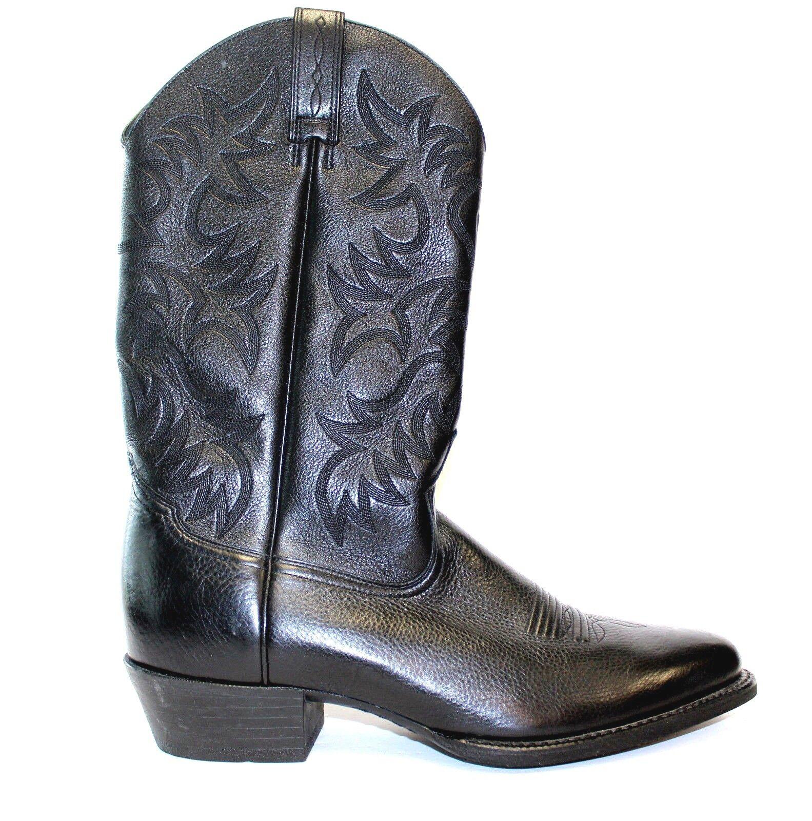 Ariat 34770 negro cuero modelada Western Cowboy botas Talla 13D Nuevo