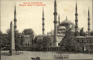 Constantinople-Istanbul-alte-AK-1910-Moschee-Mosquee-Ahmed-et-l-039-Hippodrome