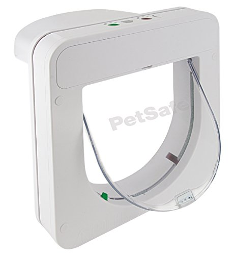 PetSafe Petporte Smart Flap Microchip Cat Door, Battery Operated or Main Power