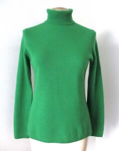Charter Club Emerald Green 2-Ply 100% Cashmere Turtleneck Sweater M
