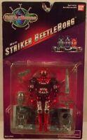 Beetleborgs Red Striker Beetleborg Figure (mint On U.s. Card) By Bandai Saban