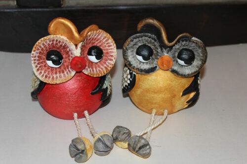 Teelicht als Eule Keramik Handarbeit Seyko Deko Figur Uhu